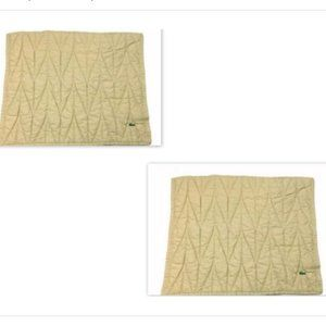 Lacoste Set of 2 Tan Quilted Pillowcases Shams